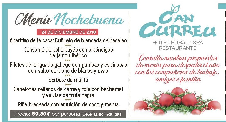 menu nochebuena red