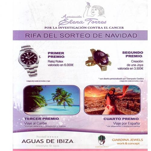 Raffle of Christmas to benefit of the Association Elena Torres