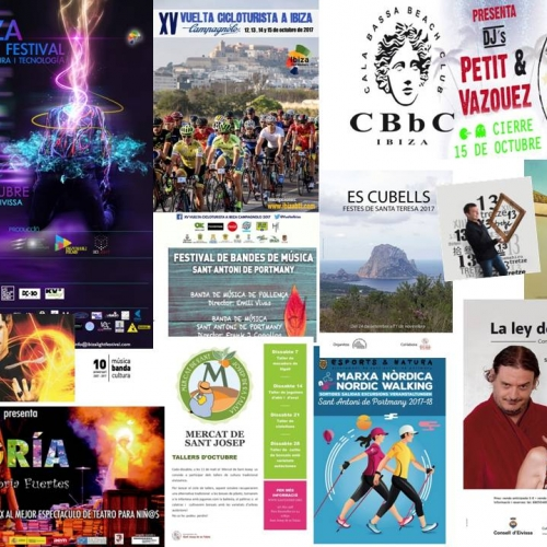 Ibiza Light Festival, Theater and road bike this weekend