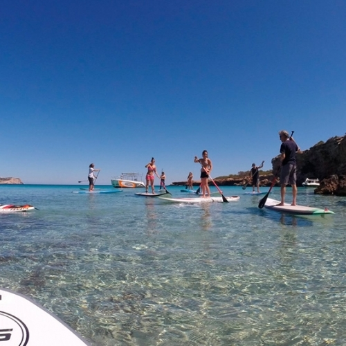 Fun, paddle surfing and the best coves in Ibiza with Sup Paradise.