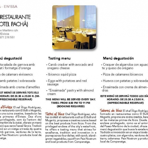 The restaurant of Hotel Pacha in the Srping Food Festival