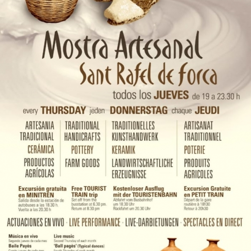 Handicraft market on Thursday in Sant Rafel