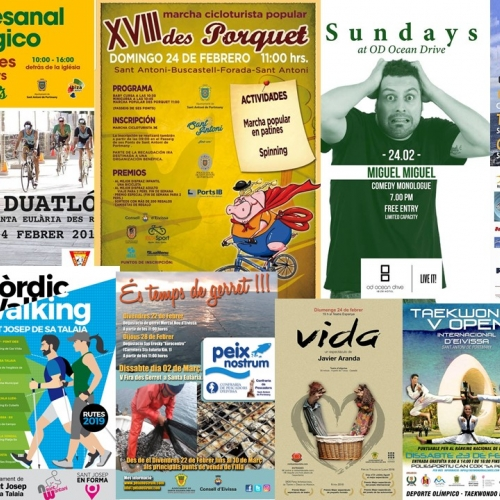 Tradition in Santa Agnés and sport to enjoy in Ibiza at the weekend