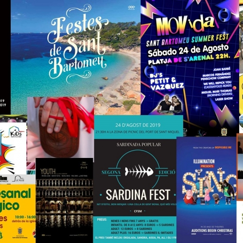 Enjoy this weekend in Ibiza: La Movida, Sardina Fest, guided tours and more!