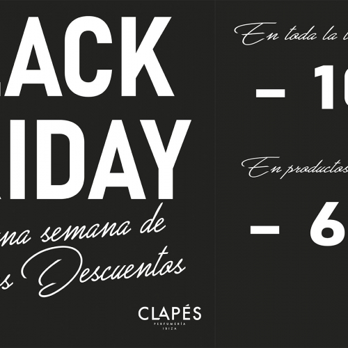 ¡Black Friday en Perfumerías Clapés!